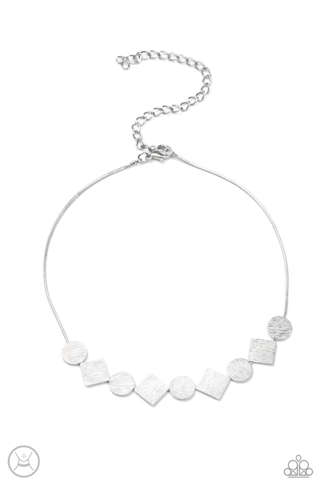 Dont Get Bent Out Of Shape - Silver - Paparazzi Necklace Image