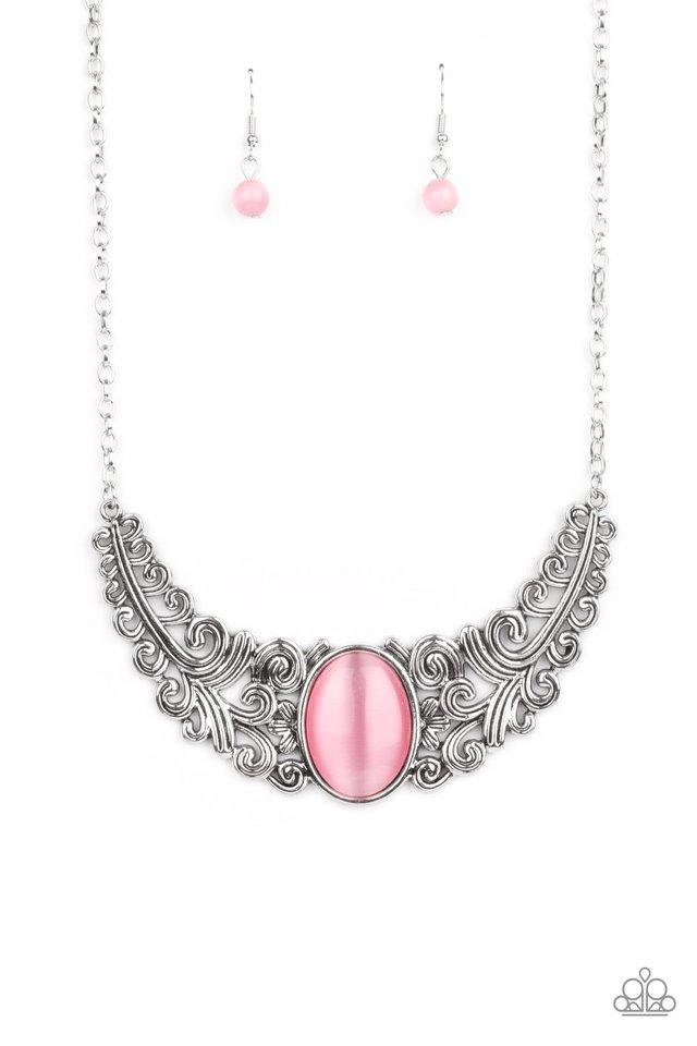 Celestial Eden - Pink - Paparazzi Necklace Image