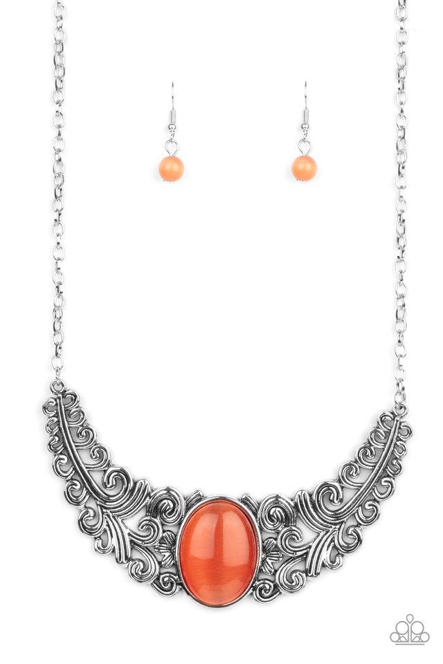 Celestial Eden - Orange - Paparazzi Necklace Image