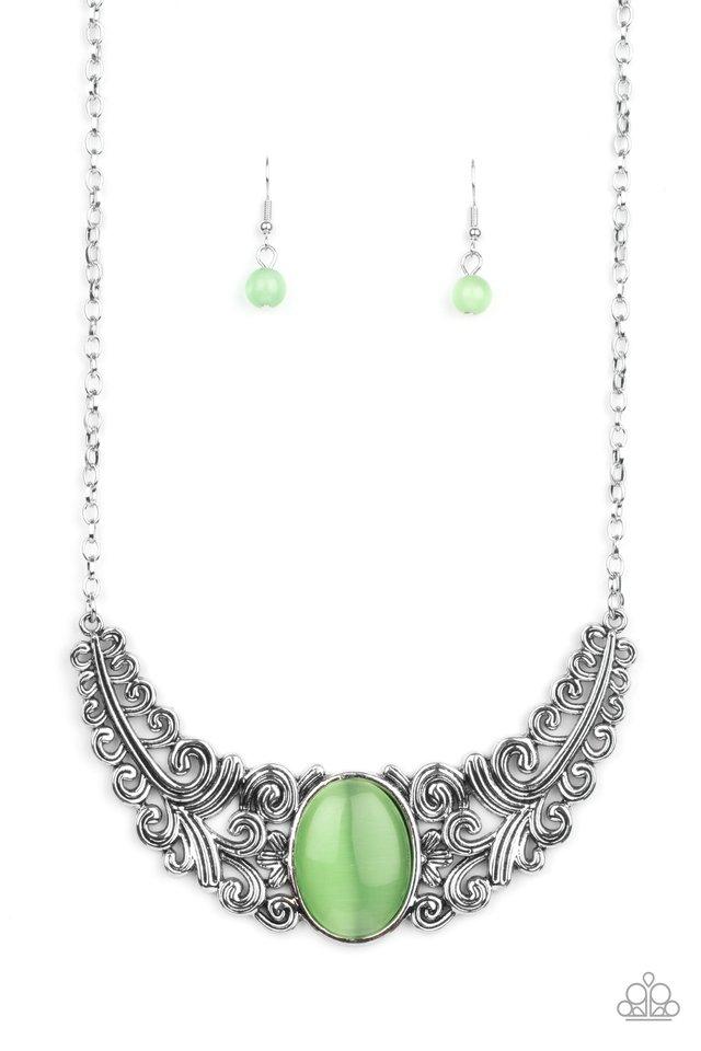 Celestial Eden - Green - Paparazzi Necklace Image