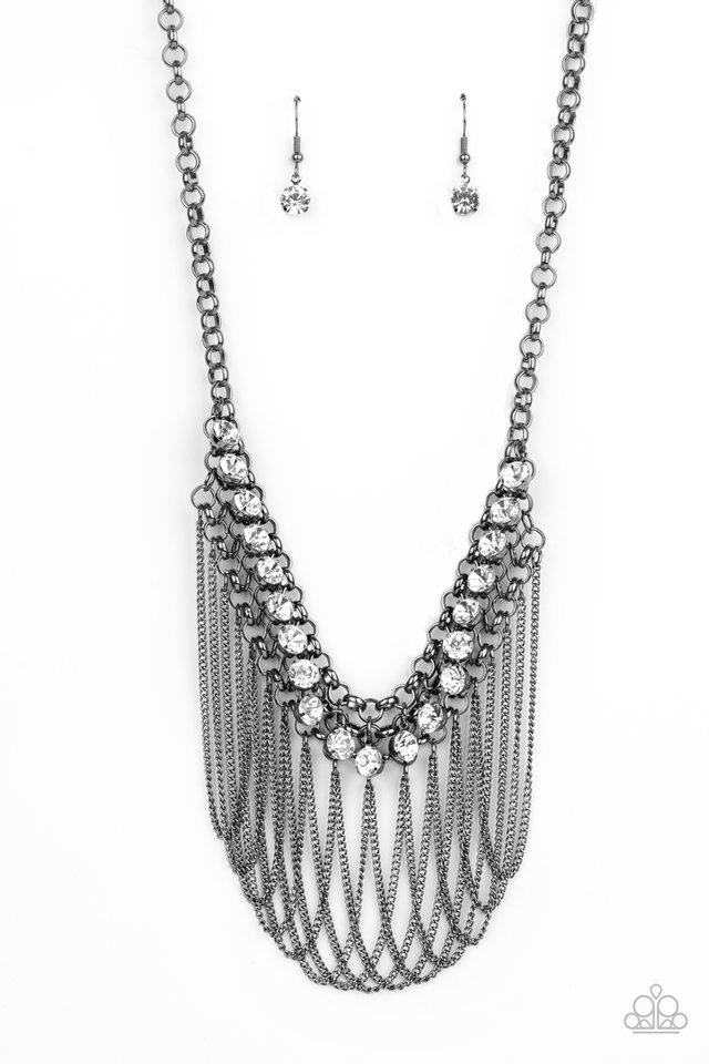 Flaunt Your Fringe - Black - Paparazzi Necklace Image