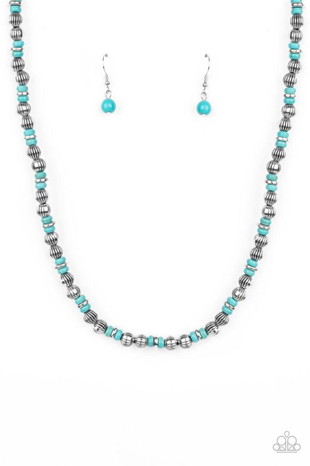 ZEN You Least Expect It - Blue - Paparazzi Necklace Image