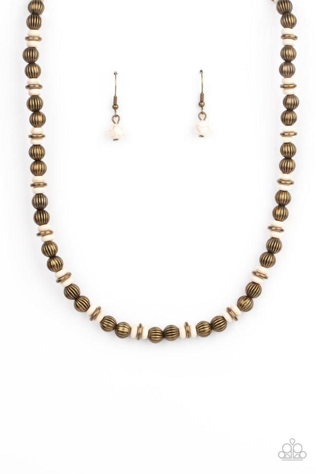 ZEN You Least Expect It - Brass - Paparazzi Necklace Image