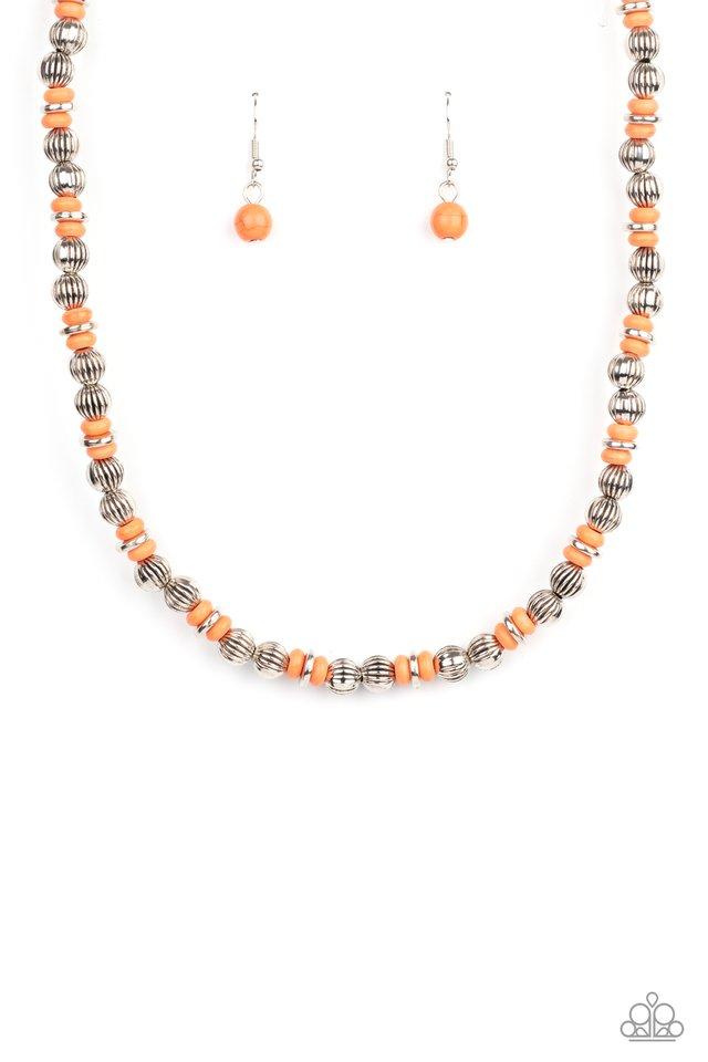 ZEN You Least Expect It - Orange - Paparazzi Necklace Image