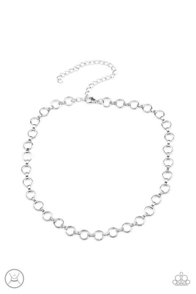 Insta Connection - Silver - Paparazzi Necklace Image