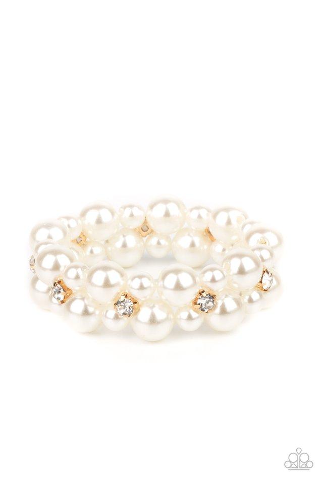 Flirt Alert - Gold - Paparazzi Bracelet Image