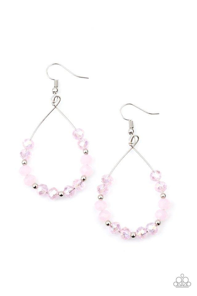 Wink Wink - Pink - Paparazzi Earring Image