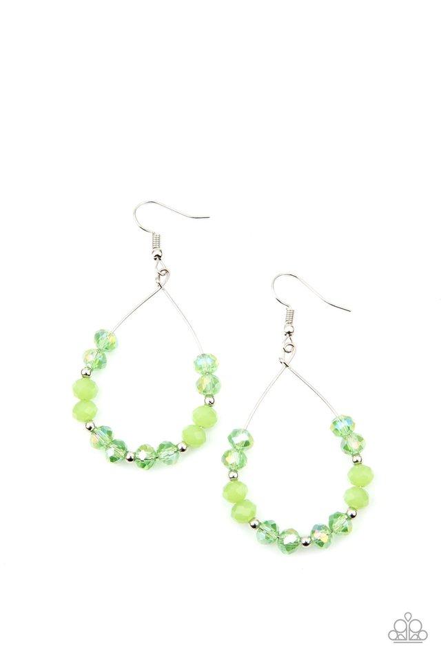 Wink Wink - Green - Paparazzi Earring Image