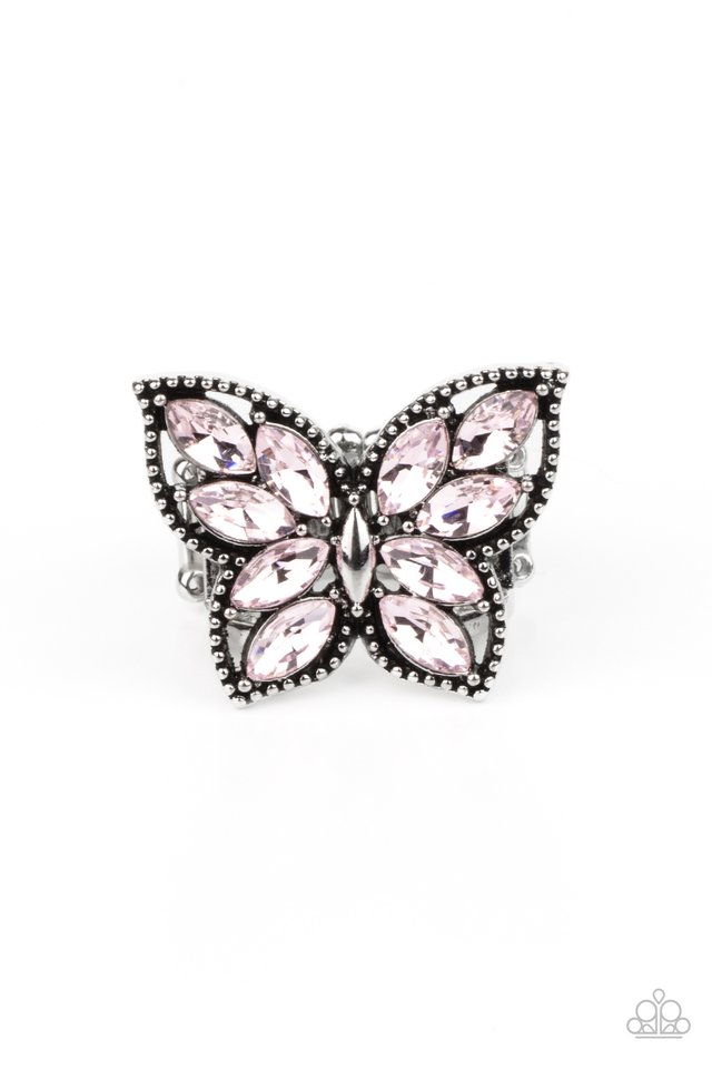 Fluttering Fashionista - Pink - Paparazzi Ring Image