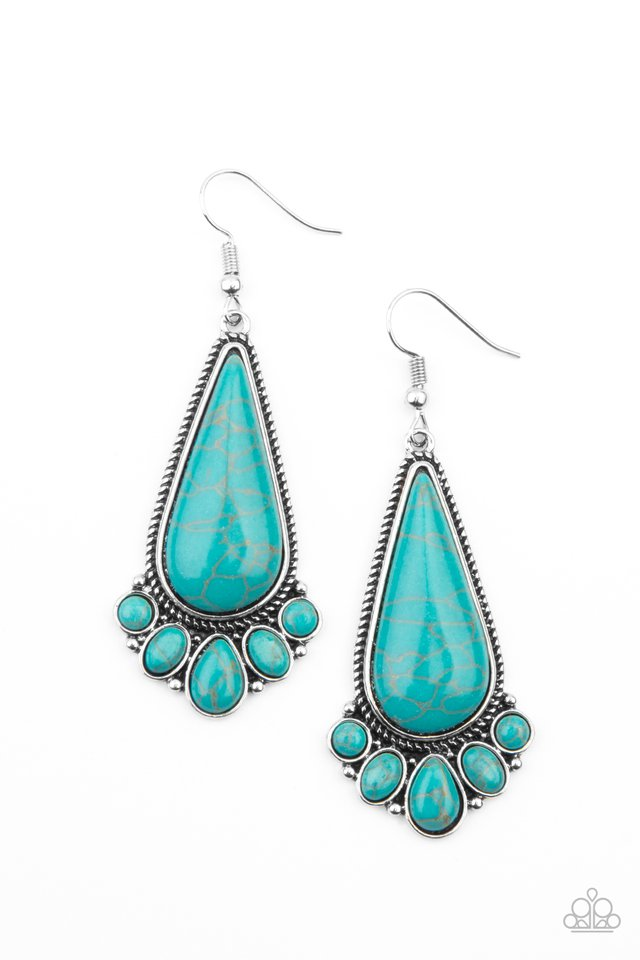 Rural Recluse - Blue - Paparazzi Earring Image