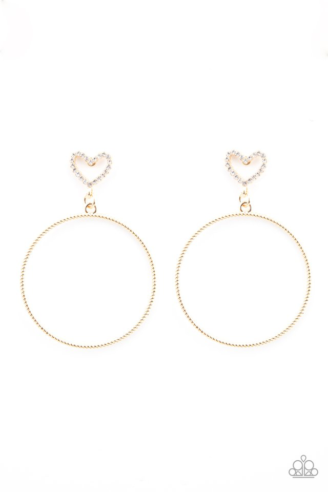 Love Your Curves - Gold - Paparazzi Earring Image