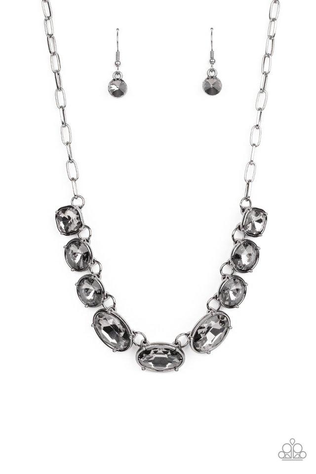 Gorgeously Glacial - Black - Paparazzi Necklace Image
