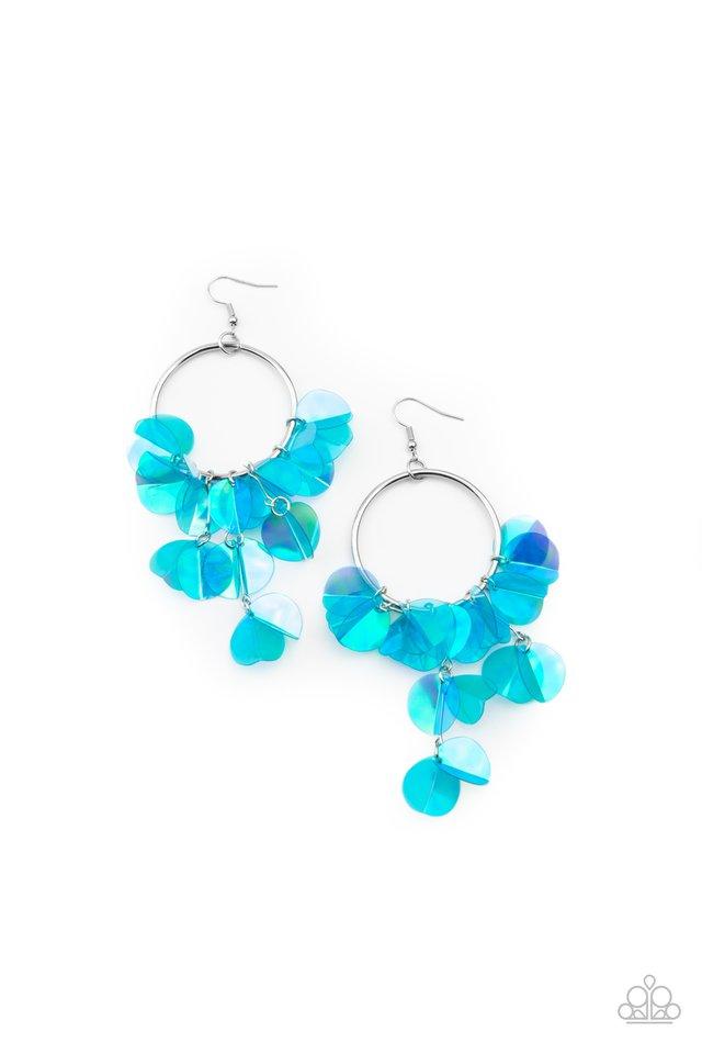 Holographic Hype - Blue - Paparazzi Earring Image