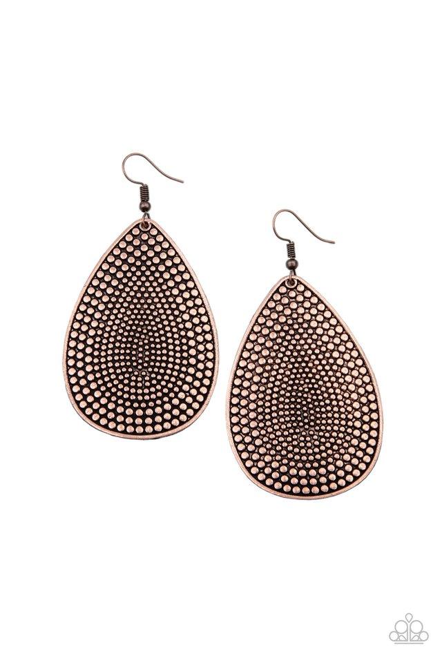 Artisan Adornment - Copper - Paparazzi Earring Image