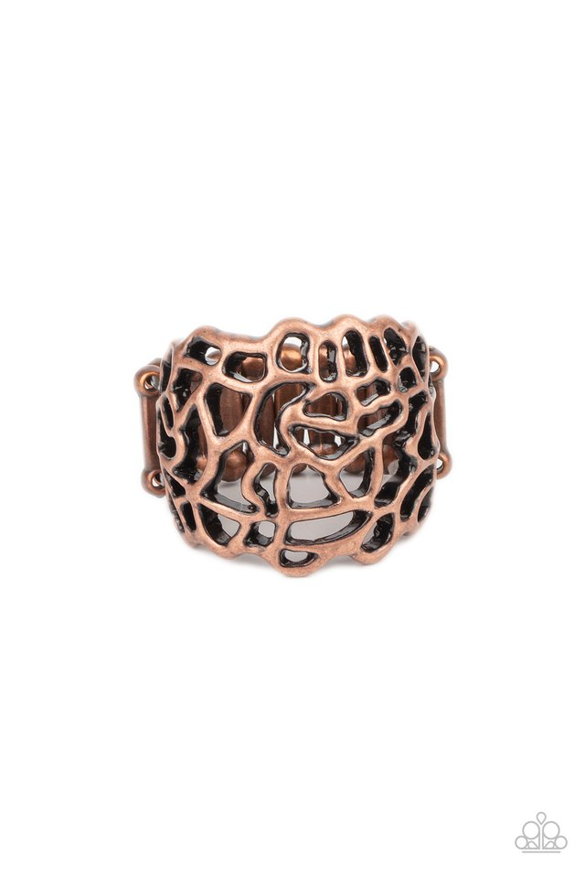 Get Your FRILL - Copper - Paparazzi Ring Image