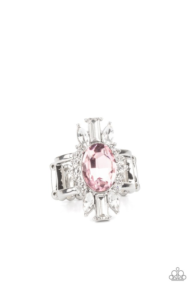Icy Icon - Pink - Paparazzi Ring Image