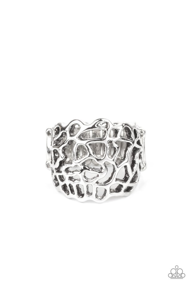 Get Your FRILL - Silver - Paparazzi Ring Image