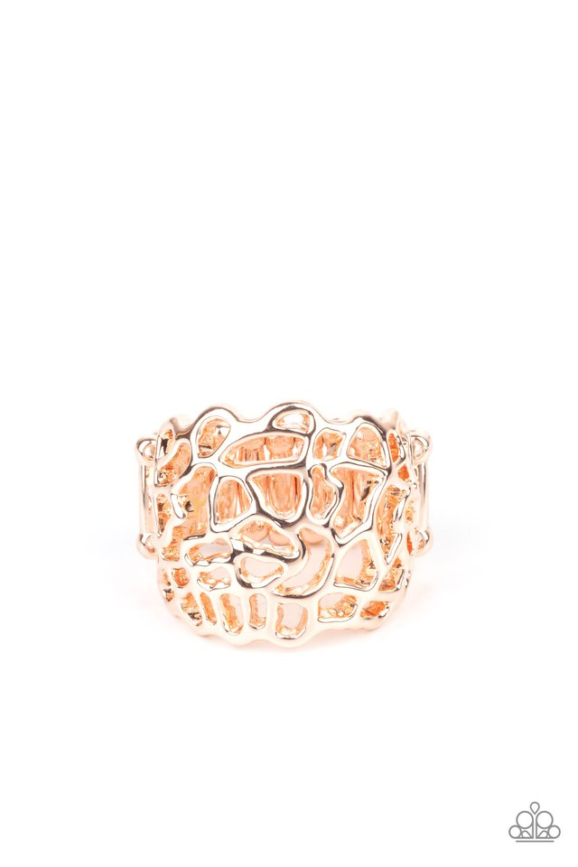 Get Your FRILL - Rose Gold - Paparazzi Ring Image
