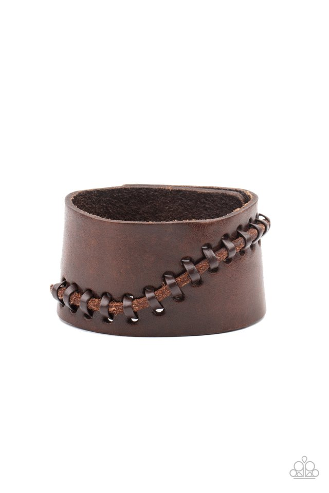 Every STITCH Way - Brown - Paparazzi Bracelet Image