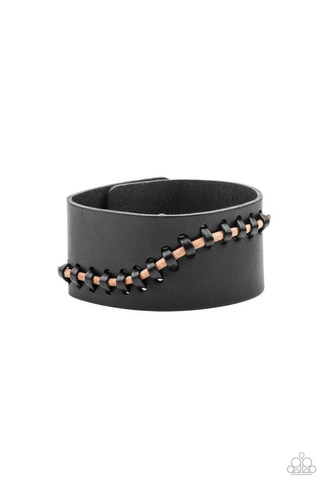Every STITCH Way - Black - Paparazzi Bracelet Image