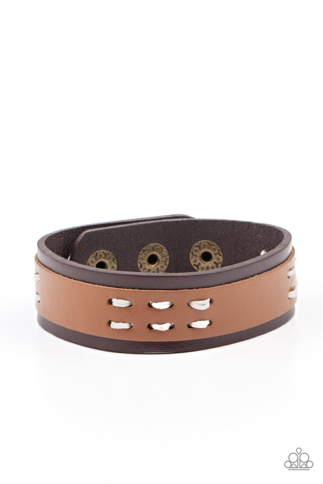 Blaze A Trail - Brown - Paparazzi Bracelet Image