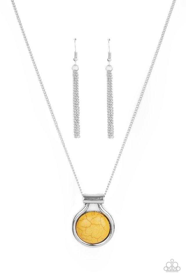 Patagonian Paradise - Yellow - Paparazzi Necklace Image