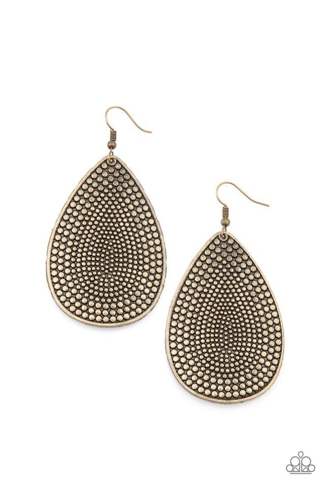 Artisan Adornment - Brass - Paparazzi Earring Image