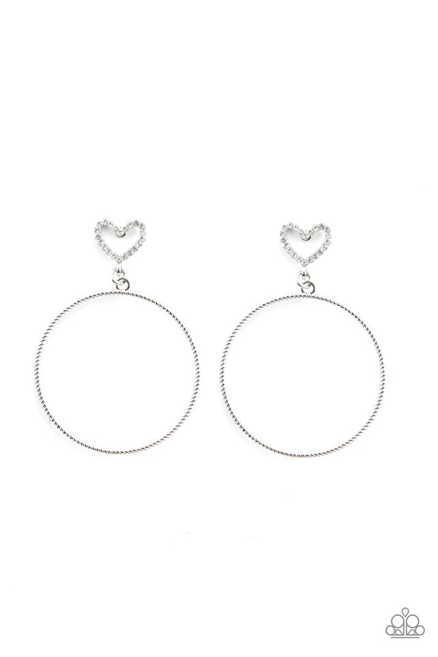 Love Your Curves - White - Paparazzi Earring Image
