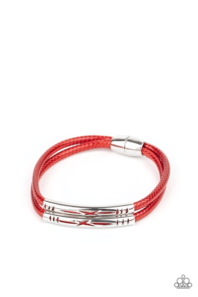 What a WANDER-ful World - Red - Paparazzi Bracelet Image
