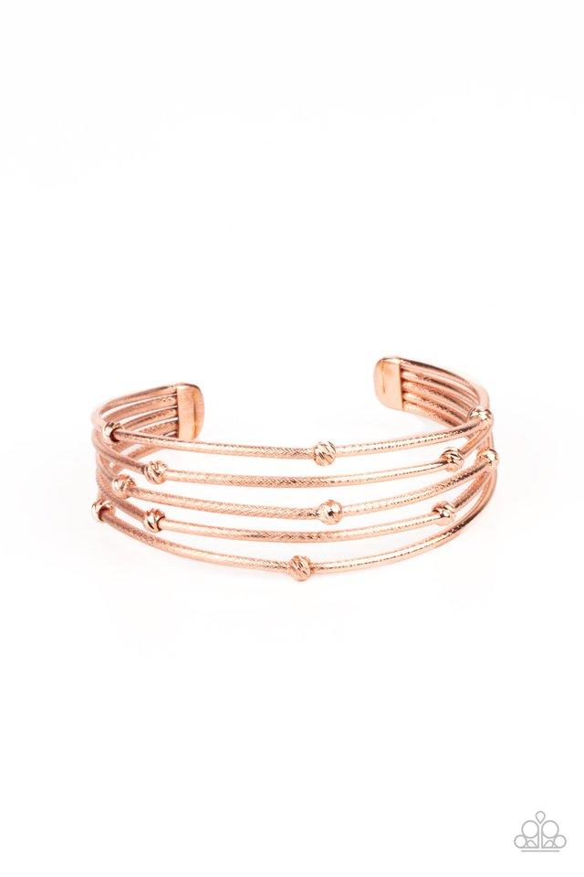 Face The METALLIC Music - Copper - Paparazzi Bracelet Image