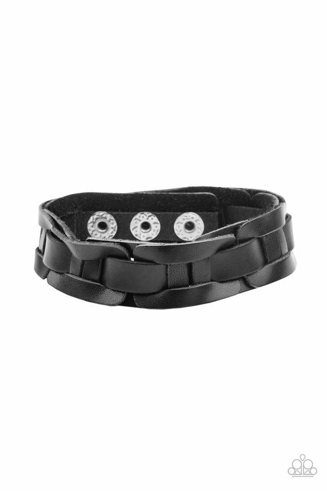 Garage Band Grunge - Black - Paparazzi Bracelet Image