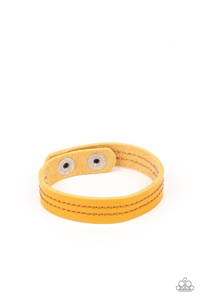 Life is WANDER-ful - Yellow - Paparazzi Bracelet Image