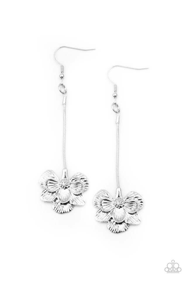 Opulently Orchid - Silver - Paparazzi Earring Image