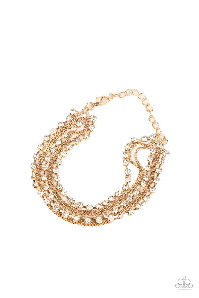 Thats a Smash! - Gold - Paparazzi Bracelet Image