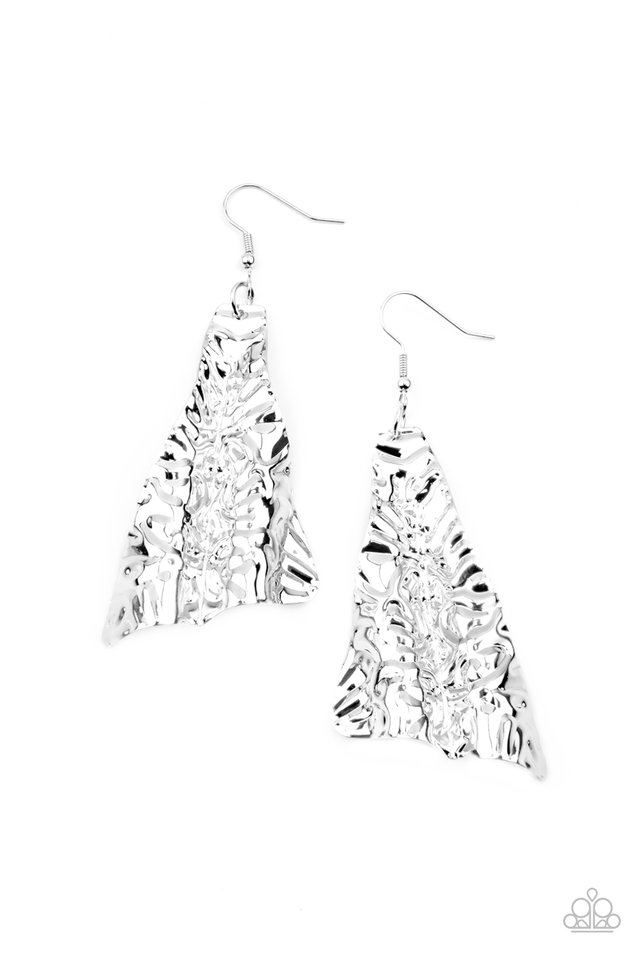 How FLARE You! - Silver - Paparazzi Earring Image
