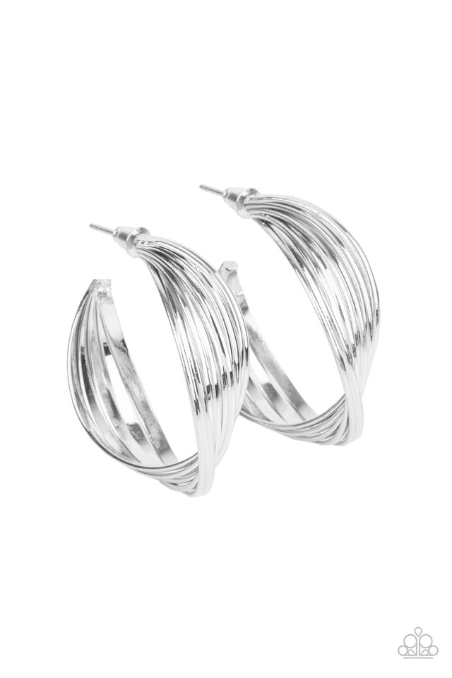 Curves In All The Right Places - Silver - Paparazzi Earring Image