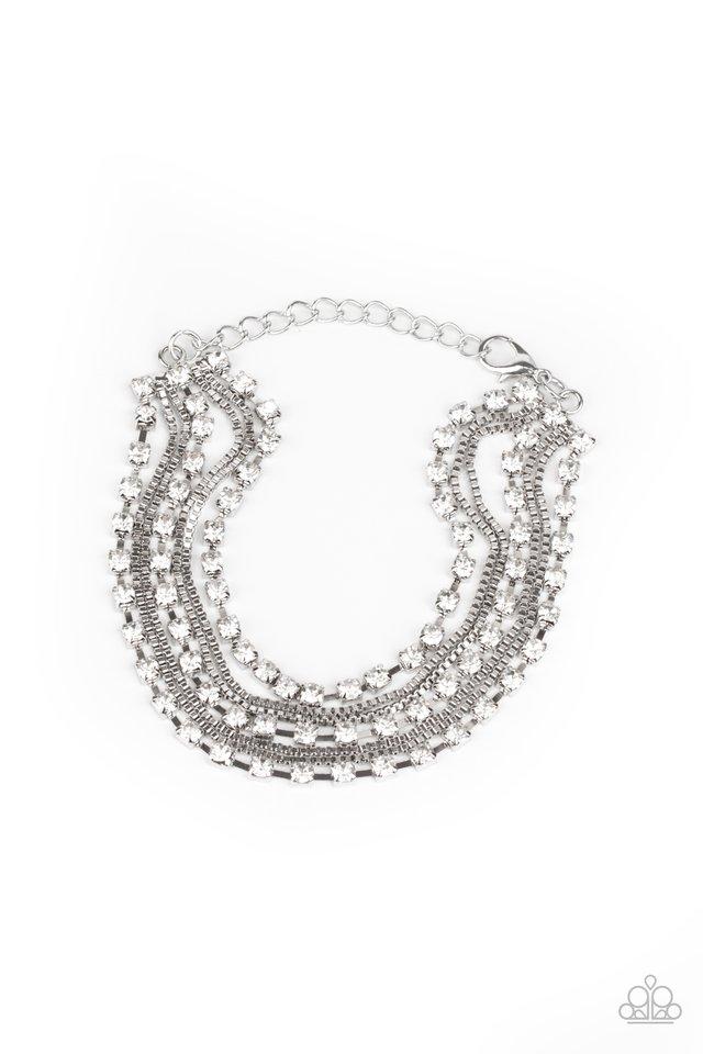 Thats a Smash! - White - Paparazzi Bracelet Image