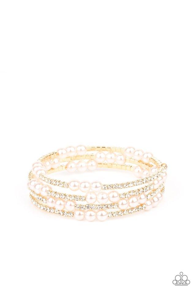 Hollywood Hospitality - Gold - Paparazzi Bracelet Image