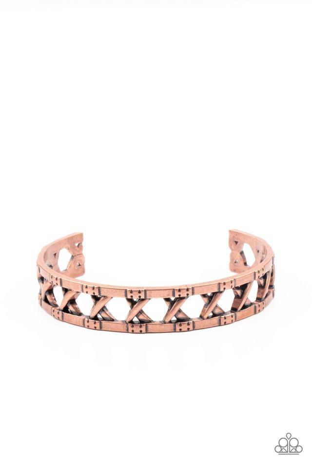 In Over Your METALHEAD - Copper - Paparazzi Bracelet Image