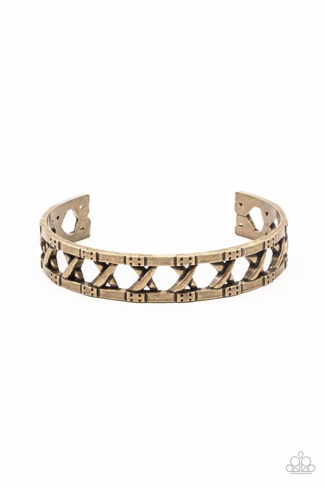 In Over Your METALHEAD - Brass - Paparazzi Bracelet Image