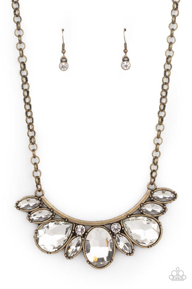 Never SLAY Never - Brass - Paparazzi Necklace Image
