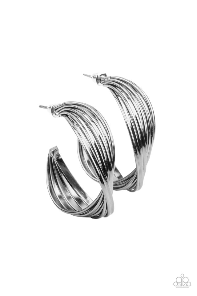 Curves In All The Right Places - Black - Paparazzi Earring Image