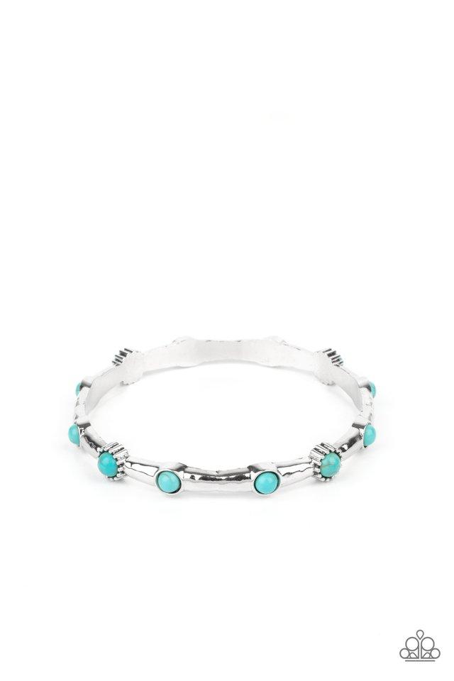 Rebel Sandstorm - Blue - Paparazzi Bracelet Image