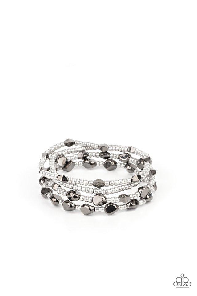 Fashionably Faceted - Multi - Paparazzi Bracelet Image