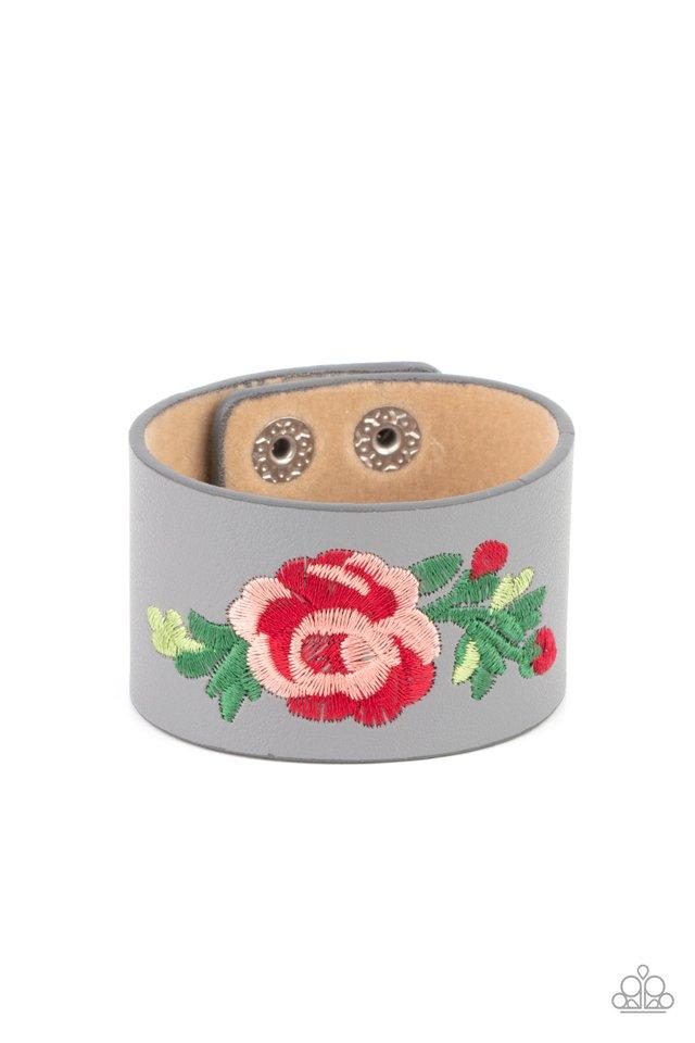 Rebel Rose - Silver - Paparazzi Bracelet Image