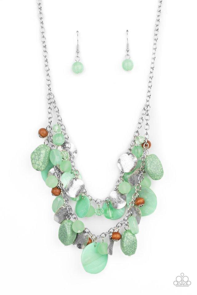 Spring Goddess - Green - Paparazzi Necklace Image
