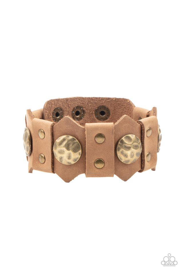 Electrified Edge - Brown - Paparazzi Bracelet Image