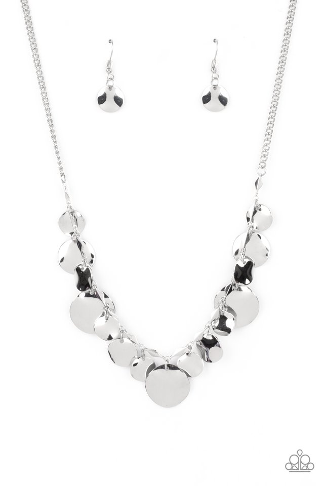 GLISTEN Closely - Silver - Paparazzi Necklace Image
