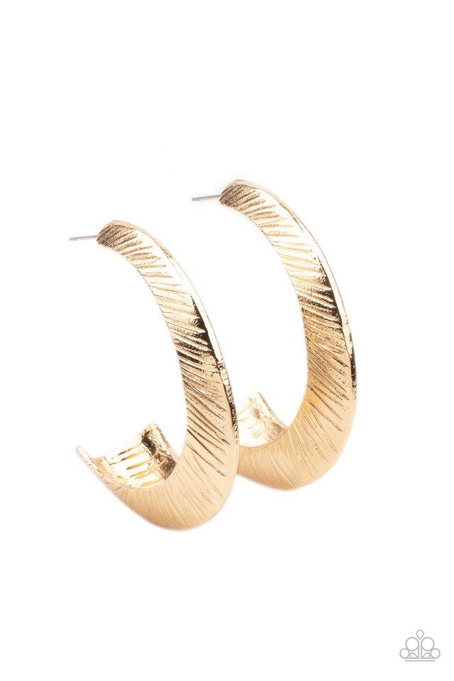 I Double FLARE You - Gold - Paparazzi Earring Image