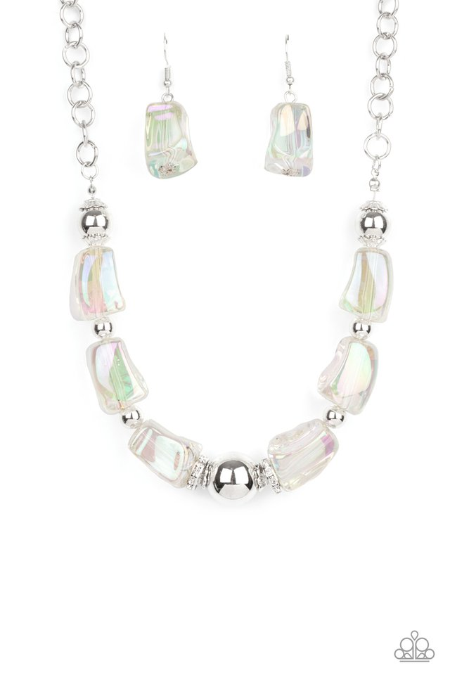 Iridescently Ice Queen - Multi - Paparazzi Necklace Image